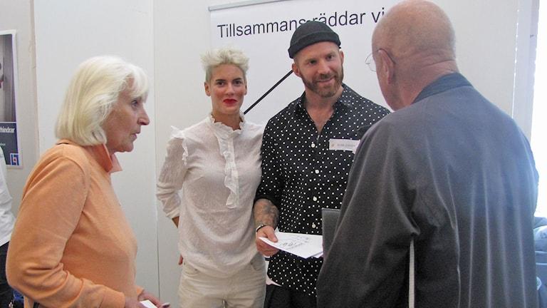 Nina Rung och Peter Svensson har startat initiativet Huskurage för att fler grannar ska våga ingripa.