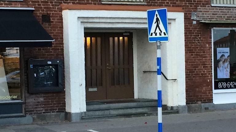 Halmstad moskés entré. Foto: Henrik Martinell / Sveriges Radio
