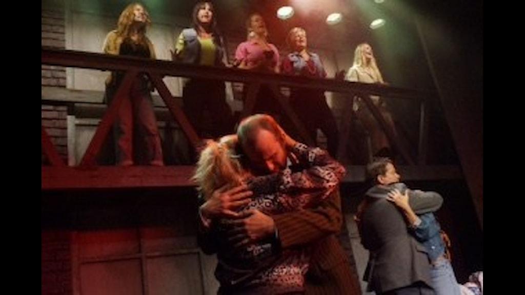 Från musikalen The Full Monty. Foto: StageFantasy