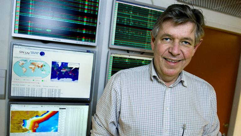 Seismolog Reynir Böðvarsson. Foto: Claudio Bresciani/TT.