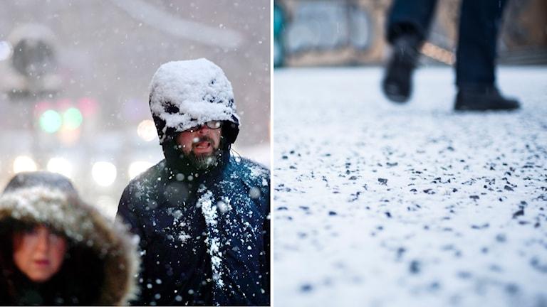Det varnas för snö i Kronobergs och Jönkopings län.