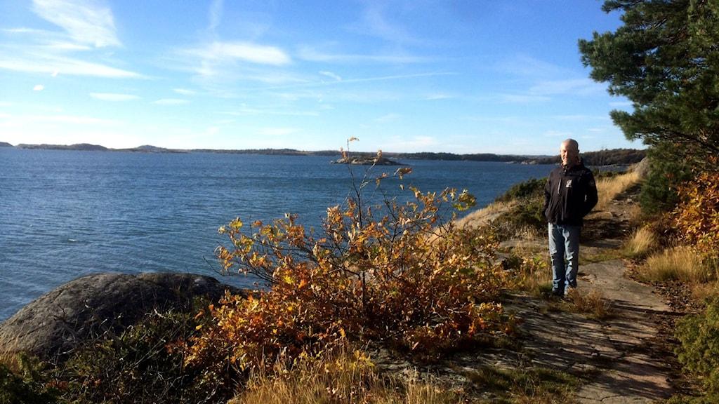 Jonas Bourghardt rekommenderar Tjolöholms vackra natur såhär på hösten. Foto: Jennifer Erlandsson