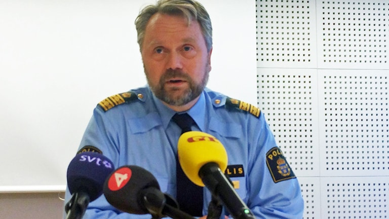 Niclas Hallgren polismästare och kommenderingschef. Foto: Magnus Hagström/Sveriges Radio.
