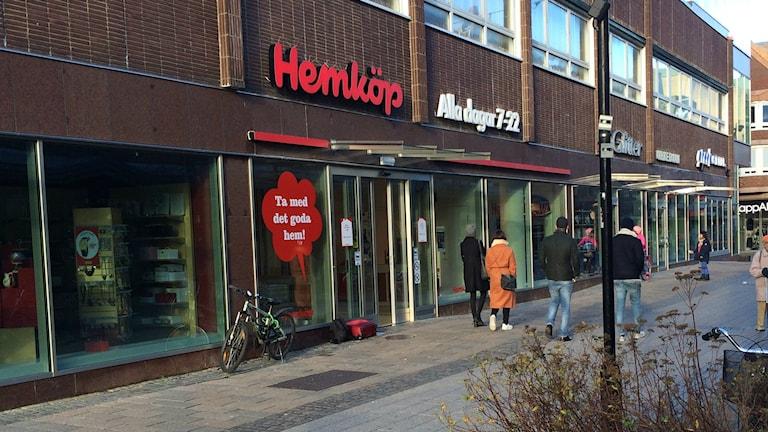 Hemköp på Brogatan i Halmstad. Foto: Sveriges Radio