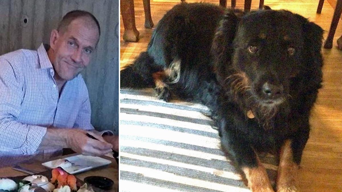 Jan Samuelsson är en av dem som har kontaktat P4 Halland och erbjudit sig att gå ut med hunden Luzia. Foto: Sveriges Radio/Privat.
