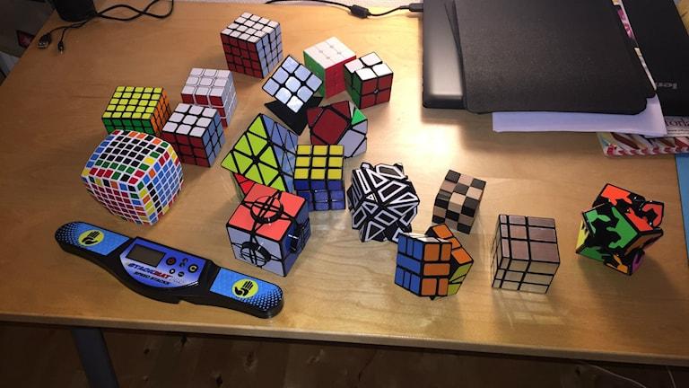 Det krävs många kuber när man tävlar på SM-nivå. Foto: privat