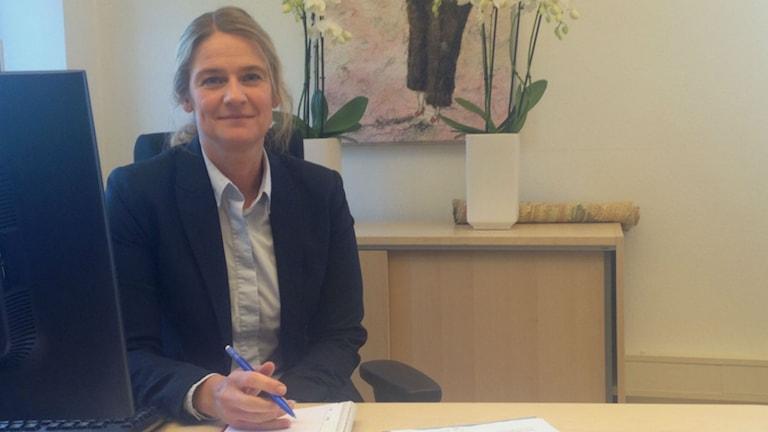 Carolina Winkler, kanslichef på överförmyndarenheten. Foto: Josefin Patzauer/Sveriges Radio