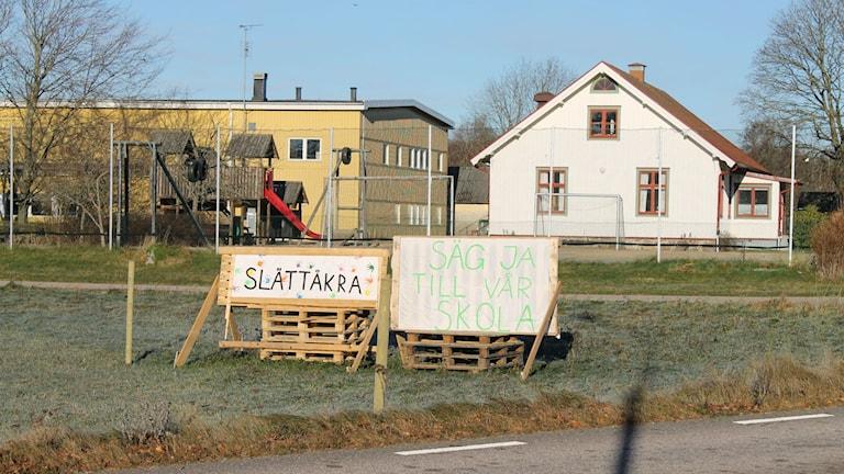 Orten engagerar sig för sin skola. Foto: Elin Logara/Sveriges Radio