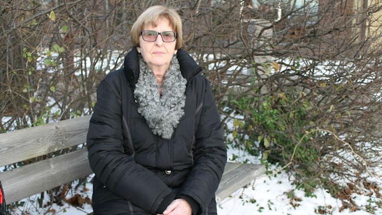 Kerstin Nilsson, ordförande för PRO Getinge. Foto: Elin Logara/Sveriges Radio