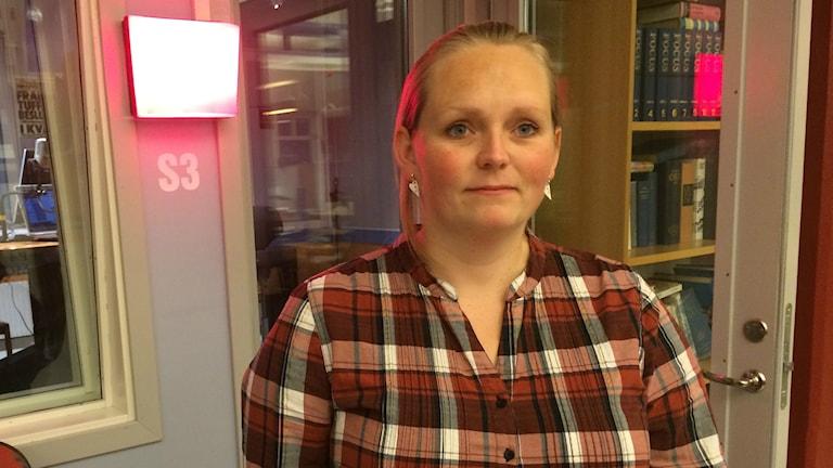 Cathrine Nevland, skolföreningen i Slättåkra. Foto: Henrik Martinell / Sveriges Radio