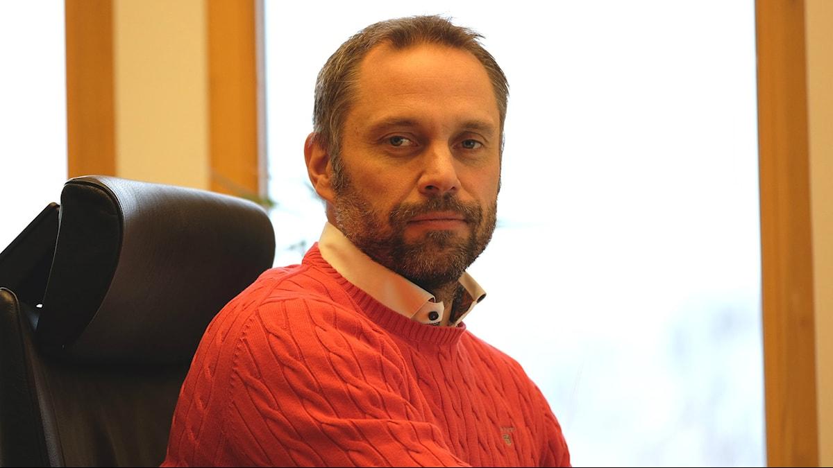 David Lorentz, förundersökningsledare på polisen i Kungsbacka. Foto: Paul Lycktberg