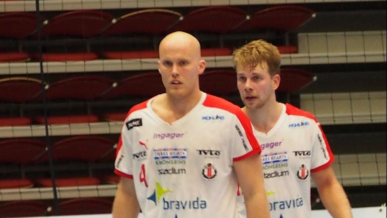 Jonathan Berg och Anton Blickhammar HK Drott. Foto: Patric Ljunggren/ Sveriges Radio. Arkivbild.