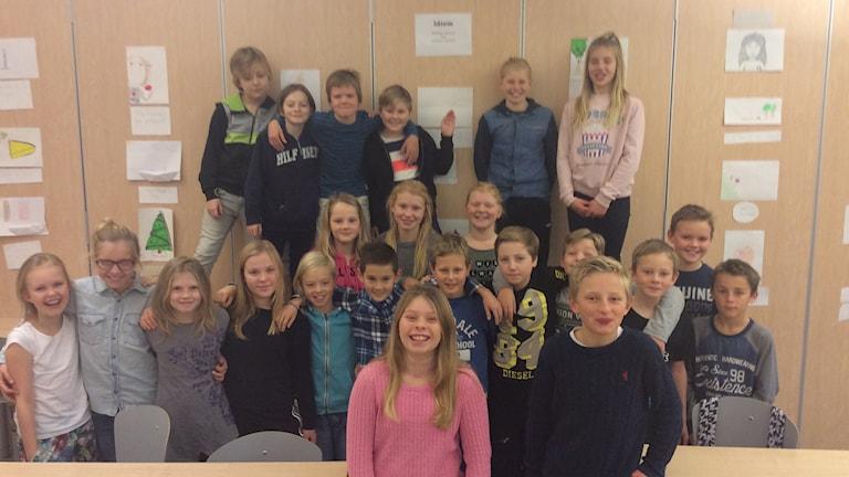 Ankarskolans 5:2 är en av dom uttagna klasserna. Foto: Privat