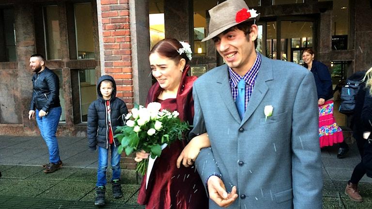 Florin och Josefin. Foto: Muhamed Ferhatovic /SR Halland.