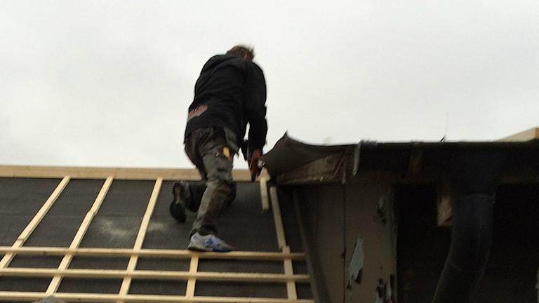 В строительстве работа в Швеции есть, при правильной квалификации. Фото: Daniel Gustafsson / Sveriges Radio