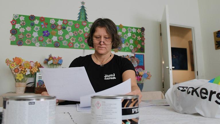 Lena brolin från Varberg driver småföretaget Kärnhuset. Foto: Henrik Martinell