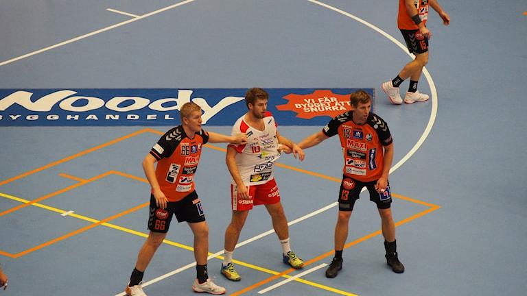 IFK Kristianstad bevakar Drott. Foto: Patric Ljunggren/Sveriges Radio