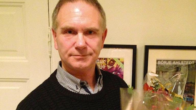 Kulturpriset gick till skådespelaren och regissören Hans Rääf. Foto: Johan Tollgerdt/Sveriges Radio.