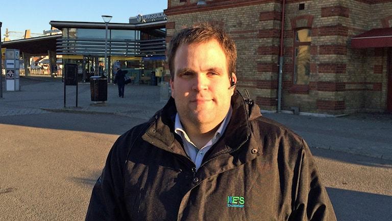 Martin Andreasson, busschaufför och skyddsombud. Foto: Daniel Gustafsson/Sveriges Radio.