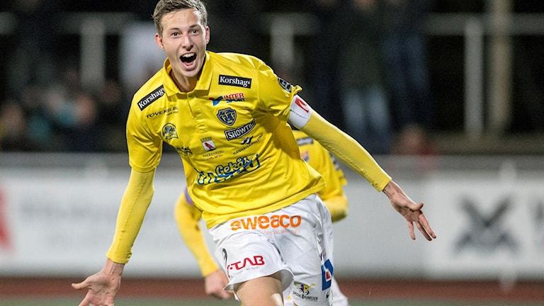 Flera klubbar visar intresse för Gustaf Nilsson. Foto: Björn Larsson Rosvall/TT.