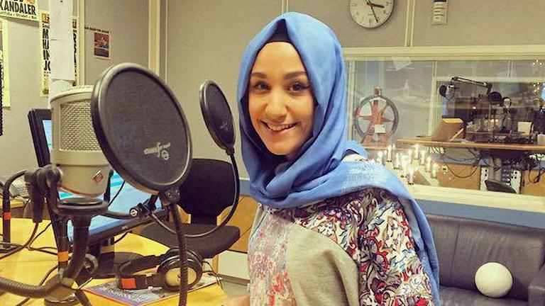 Sumejja Gencolu, ordförande för Sveriges muslimer för fred och rättvisa i Halmstad. Foto: Sveriges Radio.