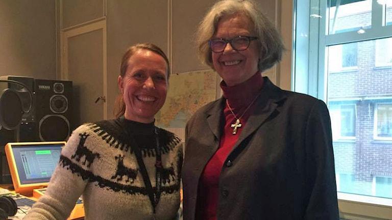 Nunnan Christina intervjuades av Anna Carlsson. Foto: Sveriges Radio.