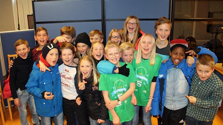 Stenstorpsskolan från Halmstad gick vidare till semifinalen. Foto: Karin Ingströmer/Sveriges Radio.