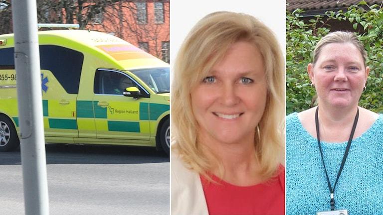 Ann Molander (L), ansvarig politiker och Susanne Svensson, chef för ambulanssjukvården. Foto: Sveriges Radio/Privat.