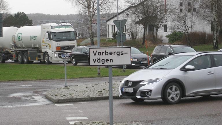 Olyckan vid Onsalamotet på E6:an orsakade långa köer och att trafiken gick i snigelfart. Foto: Per Söderhjelm