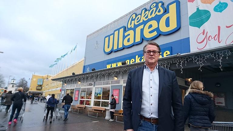 Jan Wallberg koncern-VD på Gekås i Ullared. Foto: Henrik Martinell / Sveriges Radio