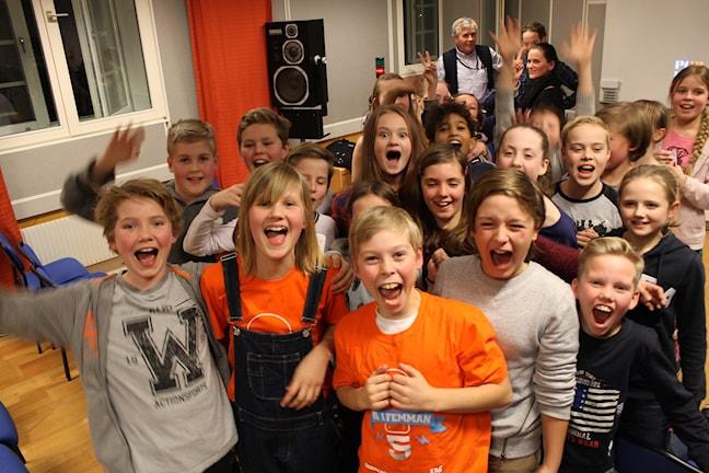 Såhär såg det ut när Tingbergsskolan vann andra semifinalen av Vi i femman. Foto: Tomas Gustafsson/Sveriges Radio