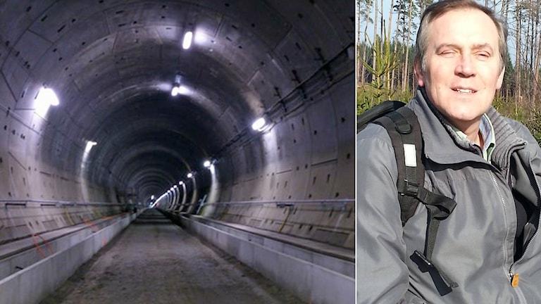 Mikael Andréasson upplevde den skakiga resan genom tunneln som obehaglig. Foto: Sveriges Radio/Privat.
