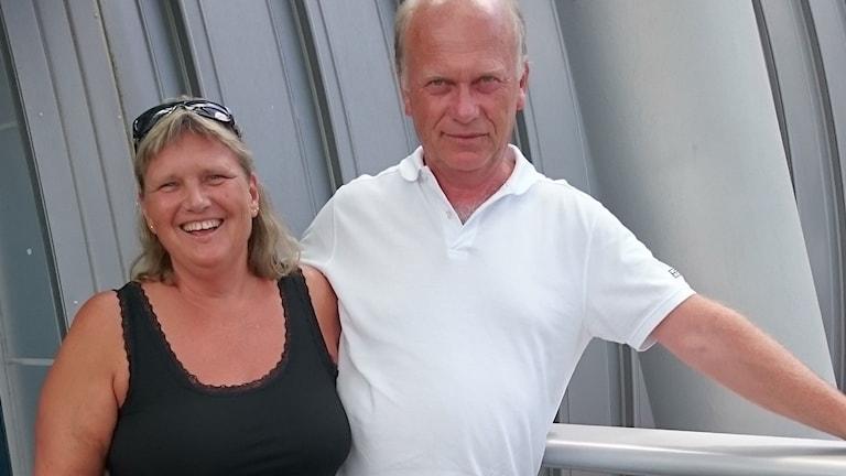 Carina Carlsson träffade sin kärlek Mats Carlsson när hon var sex år gammal. Foto: Privat