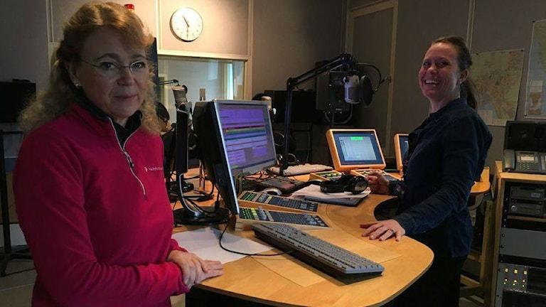 Veterinären Kristina Widmark. Foto: Sara Öster/Sveriges Radio.