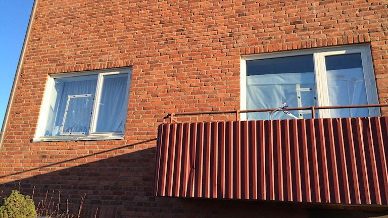 Alléskolan i Kungsbacka utsattes för skadegörelse. Foto magnus hagström/Sverigesradio.