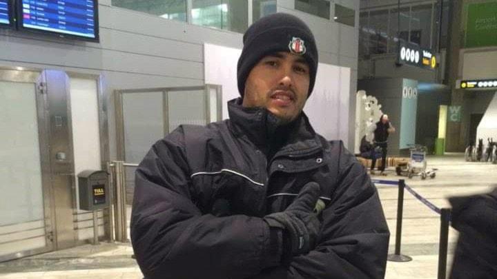 Yuniesky Wong Rodriguez på Landvetter flygplats när han anlände i tisdags kväll.