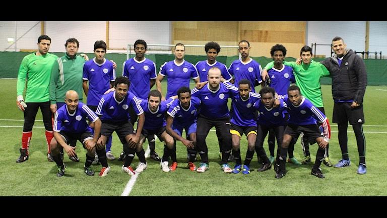 Halmstad Inter FCs lag med bara asylsökande