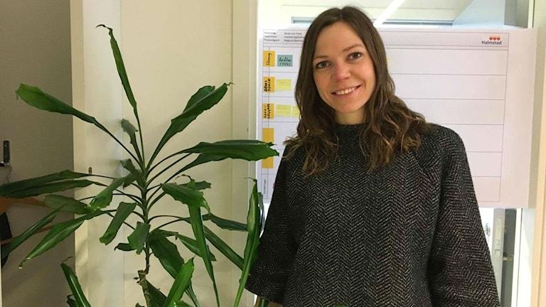 Charlotte Svensson, Halmstad kommun. Foto: Sara Öster/Sveriges Radio.