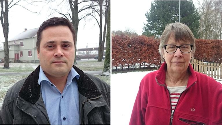 Christian Johansson, (M), Kungsbacka och Kerstin Hurtig, (KD) i Varberg tänker på vad de säger.