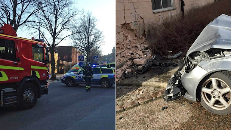 Olyckorna i Halmstad kan ha orskats av att förarna blivit bländade av den starka vårsolen. Foto: Sveriges Radio.