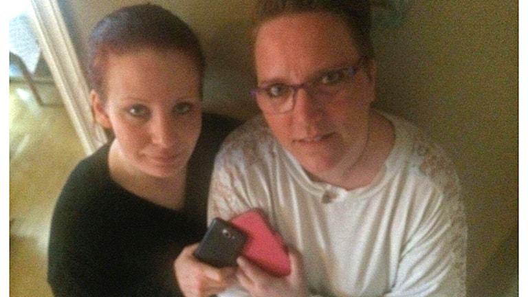 Isabela Berner och Malin Stenborg från Halmstad fick oväntad kontakt.