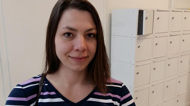 Nancy Eichenlaub är projektledare för Democrats abroad i Halmstad. Foto: Johan Tollgerdt/Sveriges Radio.