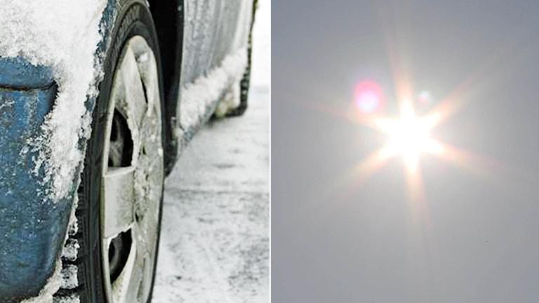 Vårsolen får snön att smälta bort, enligt SMHI. Foto: Sveriges Radio.
