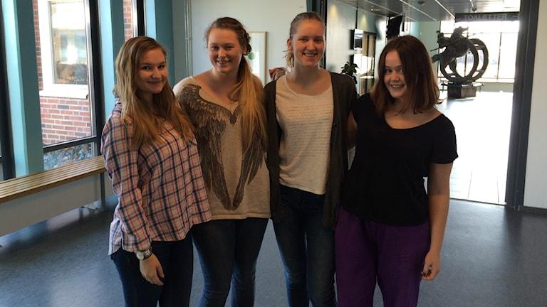 Olivia ottosson, Jessica Olsby, Filippa Brunberg och Sofia Wahlgren