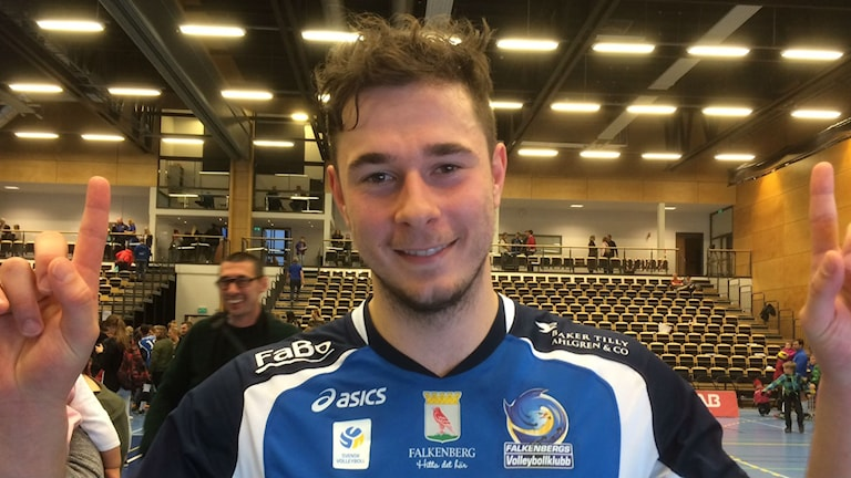 Arno Slipac i Falkenbergs Volleybollklubb. Foto: Patric Ljunggren/Sveriges Radio