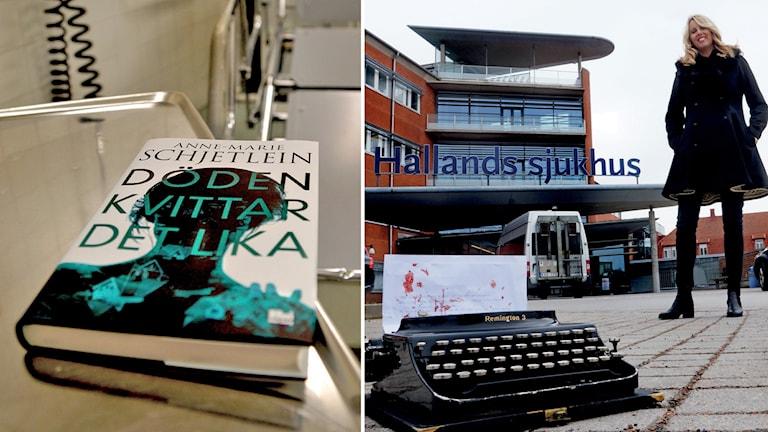 Anne-Marie Schjetlein är snart klar med sin andra bok. Foto: Fredrik Almryd/Sveriges Radio.