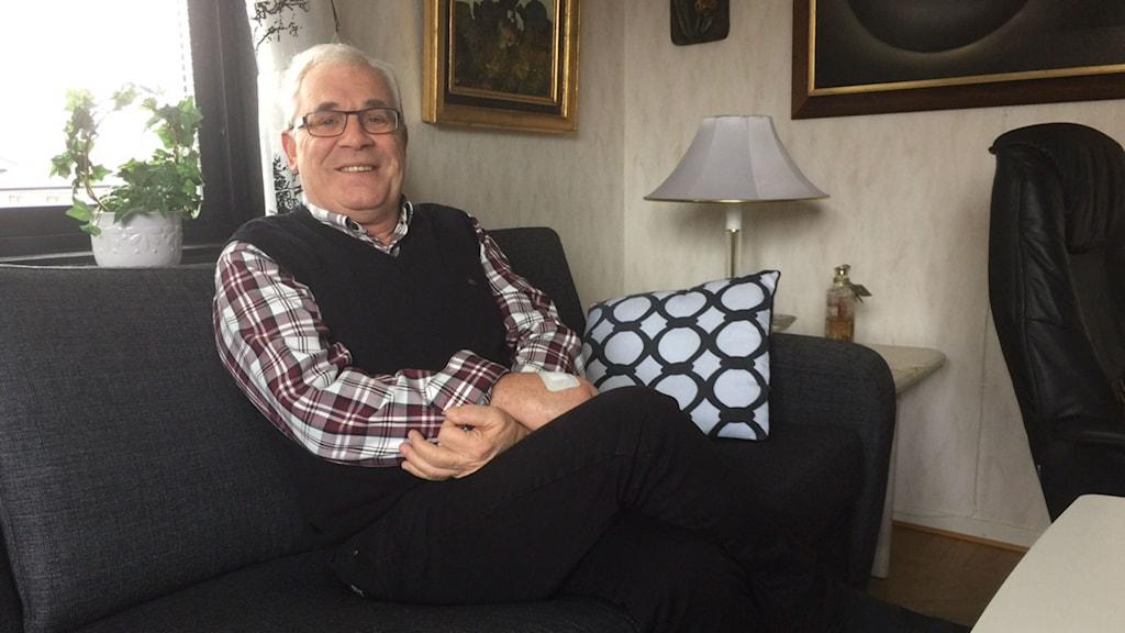 Jan-Åke Bengtsson har brunnit för verksamhet för handikappade i över 30 år. Och han har inga planer på att sluta. Foto: Jennifer Erlandsson/SR Halland.