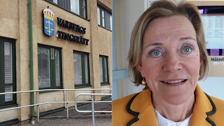 Gunilla Johansson företräder en av pojkarna. Foto: Johan Tollgerdt/Sveriges Radio.