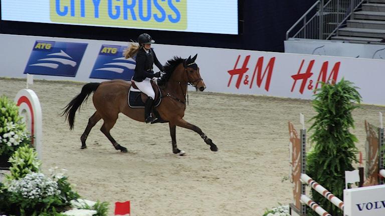 Clara Lindgren på Göteborg horse show. Foto: Per Söderhjelm.