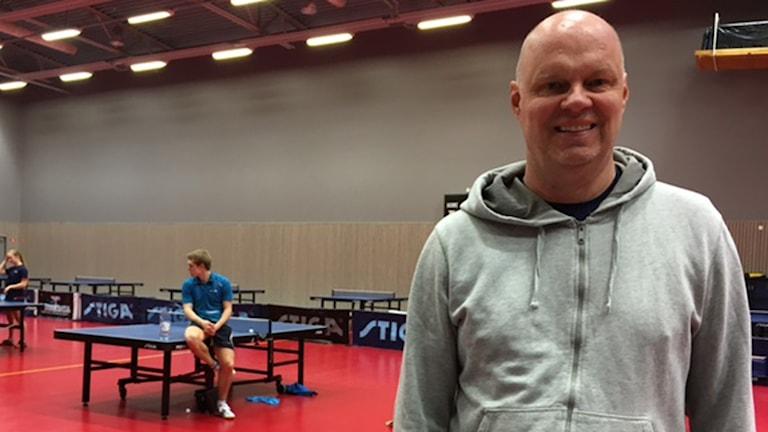 """Ulf """"Tickan"""" Carlsson, förbundskapten för bordtennislandslaget och tränare för Halmstad bordtennisklubb."""